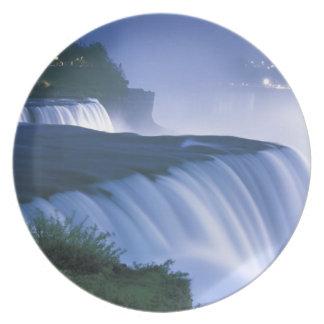 Los E.E.U.U., Nueva York, Niagara Falls. El americ Plato Para Fiesta