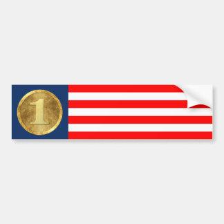 ¡Los E.E.U.U. número uno! Pegatina Para Auto