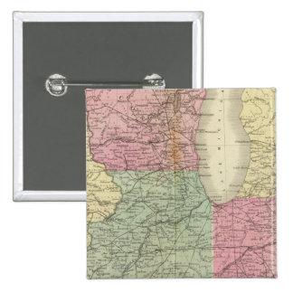 Los E.E.U.U. occidentales Pin Cuadrada 5 Cm