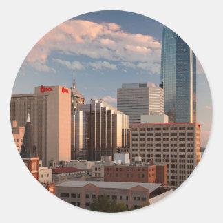 Los E.E.U.U., Oklahoma, Oklahoma City, ciudad Pegatina Redonda
