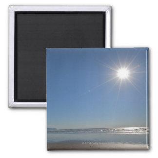 Los E.E.U.U., Oregon, ciudad pacífica, sol y playa Imán Cuadrado