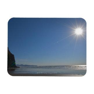 Los E.E.U.U., Oregon, ciudad pacífica, sol y playa Imán Rectangular