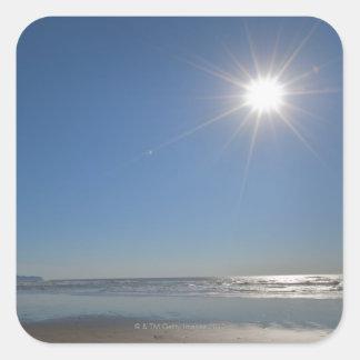 Los E.E.U.U., Oregon, ciudad pacífica, sol y playa Calcomanías Cuadradass