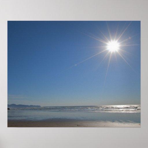 Los E.E.U.U., Oregon, ciudad pacífica, sol y playa Póster