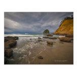 Los E.E.U.U., Oregon, condado de Tillmook, playa Tarjeta Postal