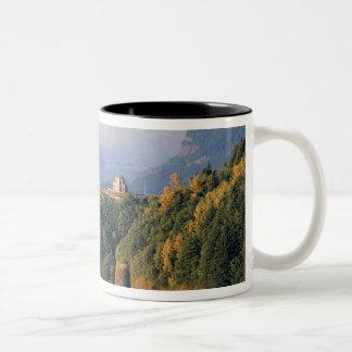 Los E.E.U.U., Oregon, el río Columbia. Puesta del  Taza De Café