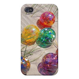 Los E.E.U.U., Oregon. El vidrio colorido flota en iPhone 4/4S Fundas
