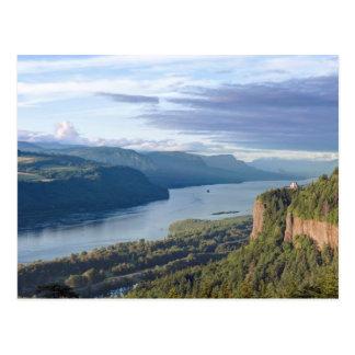 Los E.E.U.U., Oregon, garganta del río Columbia, Tarjeta Postal