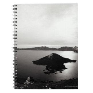 Los E.E.U.U., Oregon, lago crater, isla del mago, Libreta Espiral