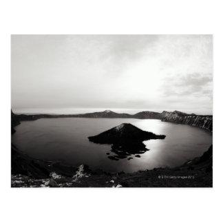 Los E.E.U.U., Oregon, lago crater, isla del mago, Postal