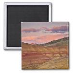 Los E.E.U.U., Oregon, Mitchell, colinas pintadas Imán Cuadrado