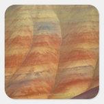 Los E.E.U.U., Oregon, Mitchell, colinas pintadas, Pegatina Cuadrada