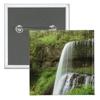 Los E.E.U.U., Oregon, plata caen parque de estado. Pin Cuadrado
