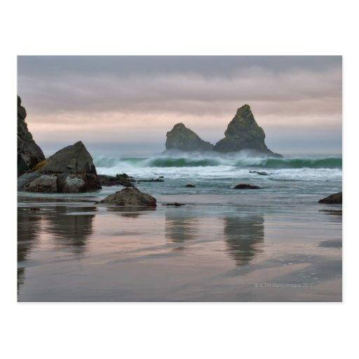 Los E.E.U.U., Oregon, playa de Bullards Postal