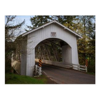Los E.E.U.U., Oregon, Scio, puente 2 de Hannah Tarjetas Postales