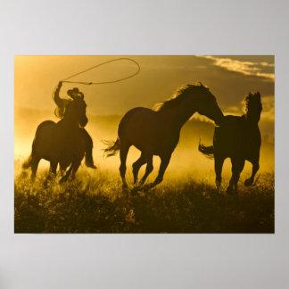 Los E.E.U.U., Oregon, Seneca, rancho de Ponderosa Poster