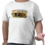 Los E.E.U.U., Oregon, Shaniko. Tractor oxidado del Camisetas
