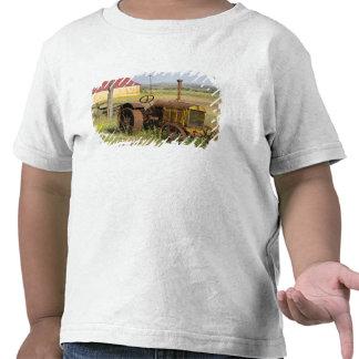 Los E E U U Oregon Shaniko Tractor oxidado del Camisetas