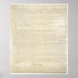 LOS E.E.U.U. Página 2 de la constitución Póster