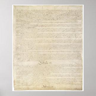 LOS E.E.U.U. Página 3 de la constitución Póster