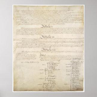 LOS E.E.U.U. Página 4 de la constitución Póster