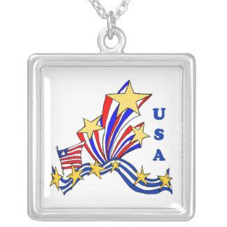 Los E.E.U.U. patrióticos Colgante Cuadrado