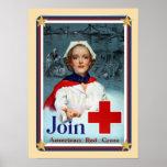 Los E.E.U.U. patrióticos - La Cruz Roja se une a Poster