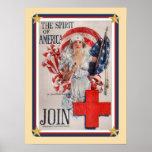 Los E.E.U.U. patrióticos - La Cruz Roja se une a Impresiones