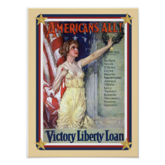 Los E.E.U.U. patrióticos - Poster del préstamo de  Póster