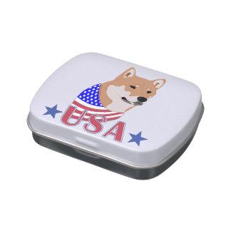 Los E.E.U.U. patrióticos Shiba Inu Frascos De Caramelos