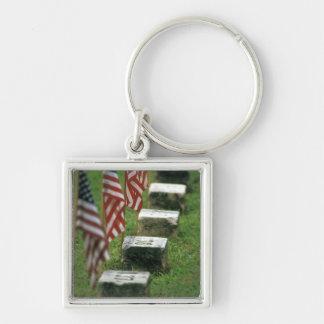 Los E.E.U.U., Pennsylvania, Gettysburg. Guerra civ Llavero Cuadrado Plateado