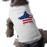 Los E.E.U.U. protagonizan la bandera americana Ropa De Perros