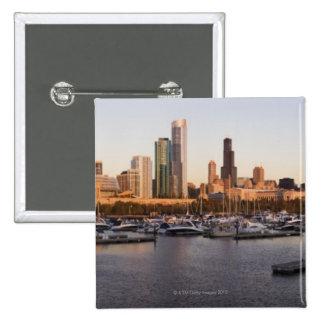 Los E E U U puerto de Illinois de Chicago y hor Pins
