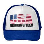 Los E.E.U.U. que beben al equipo Gorros