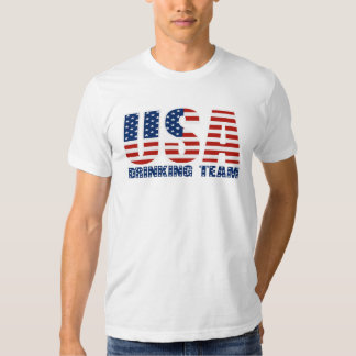Los E.E.U.U. que beben la camiseta del equipo Playera
