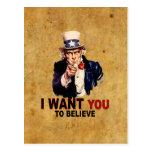 Los E.E.U.U. - Quisiera que usted creyera Postal
