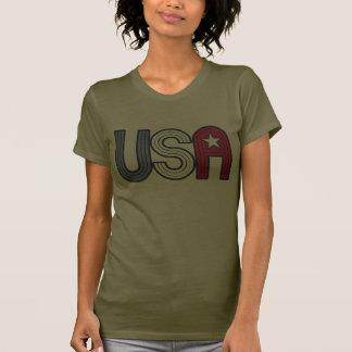 Los E.E.U.U. retros con la estrella patriótica Camisas