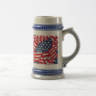 Los E.E.U.U., rojo, blanco y Blue_ Jarra De Cerveza