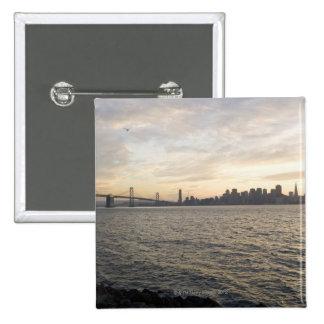 Los E.E.U.U., San Francisco, horizonte de la ciuda Pin Cuadrada 5 Cm