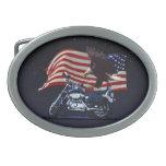 Los E.E.U.U. señalan al motorista patriótico del Hebilla Cinturón Oval