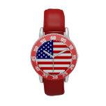 los E.E.U.U. señalan blanco por medio de una bande Relojes De Pulsera