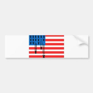 Los E.E.U.U. señalan por medio de una bandera con  Pegatina De Parachoque
