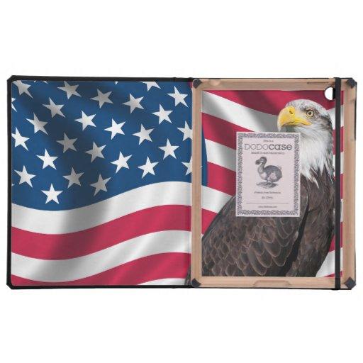 Los E.E.U.U. señalan por medio de una bandera con  iPad Fundas