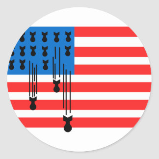Los E.E.U.U. señalan por medio de una bandera con Pegatina Redonda