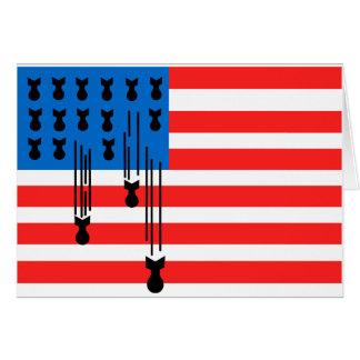 Los E.E.U.U. señalan por medio de una bandera con  Tarjeta De Felicitación