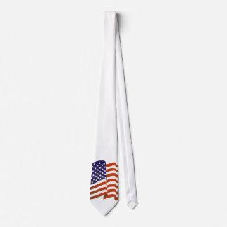 Los E.E.U.U. señalan por medio de una bandera en Corbata Personalizada