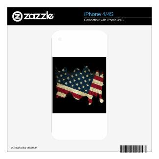 Los E.E.U.U. señalan por medio de una bandera en Skin Para El iPhone 4S