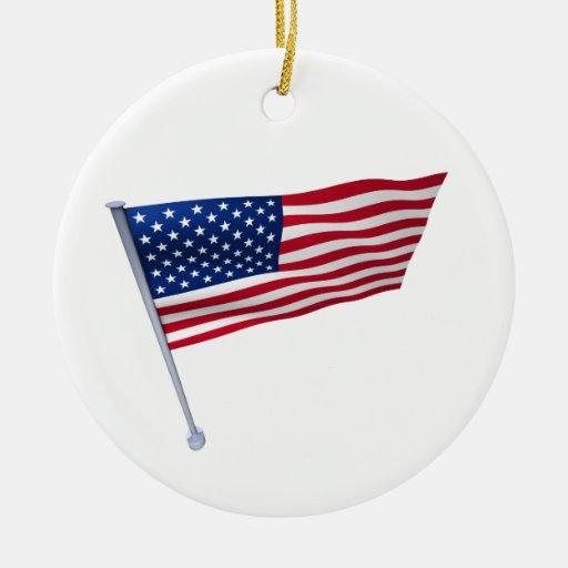 Los E.E.U.U. señalan por medio de una bandera en u Adorno De Navidad