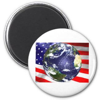 Los E.E.U.U. señalan por medio de una bandera y co Imán Redondo 5 Cm