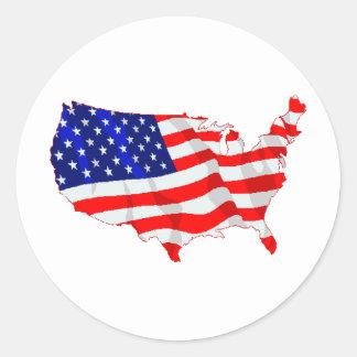 Los E.E.U.U. señalan por medio de una bandera y Etiquetas Redondas